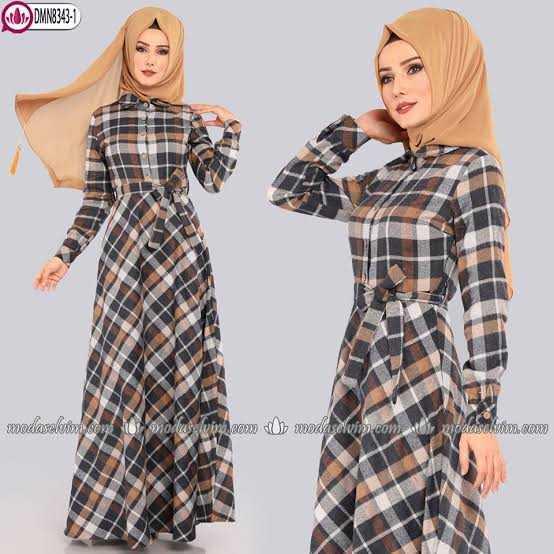 En Şık ModaSelvim Sonbahar Kış Tesettür Elbise Modelleri
