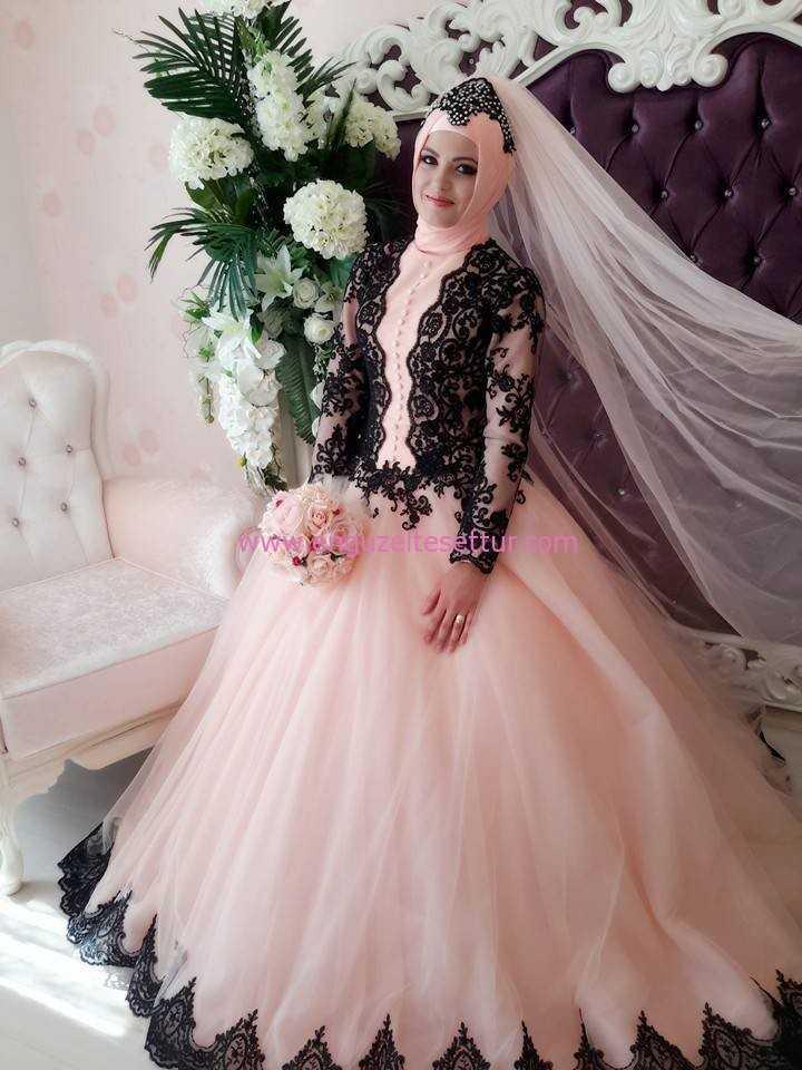 En Şık Tesettür Prenses Nişanlık Modelleri