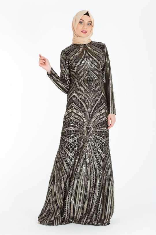 En Güzel Armine Tesettür Abiye Elbise Modelleri
