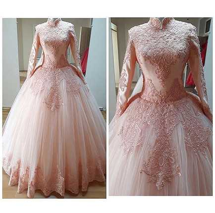 Tesettür Prenses Nişanlık Modelleri