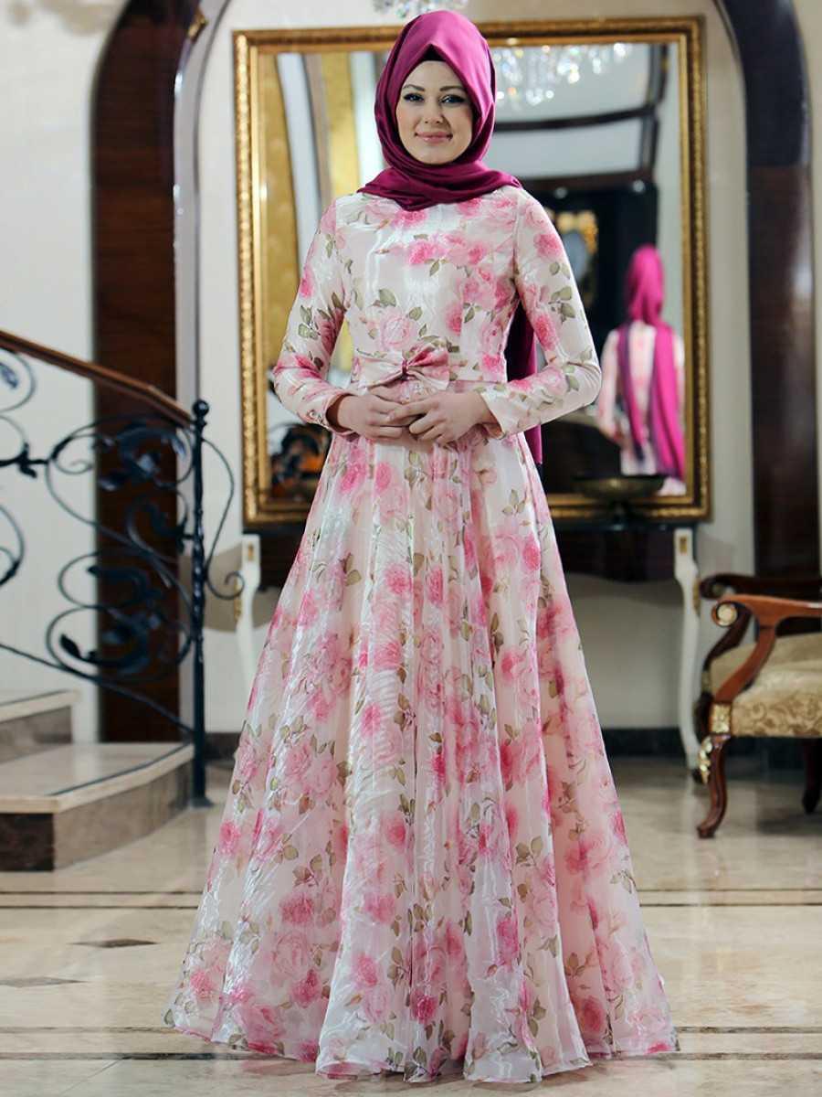 Gizem Kış Tesettür Prenses Elbise Modelleri