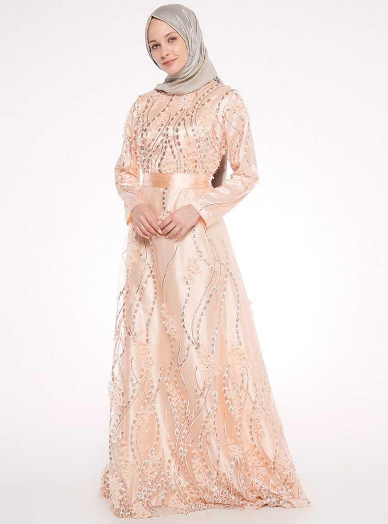 Mislina Üç Boyutlu Tesettür Abiye Elbise Modelleri
