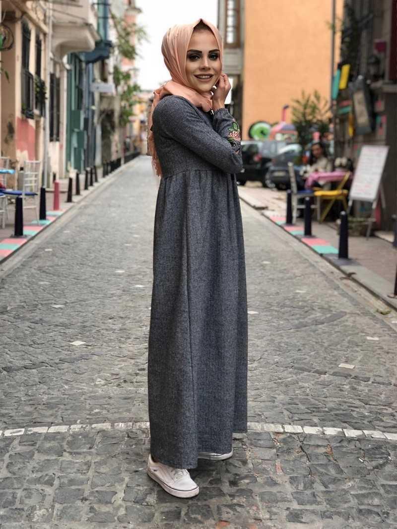 ModaOnur Şık Tesettür Kaşmir Elbise Modelleri