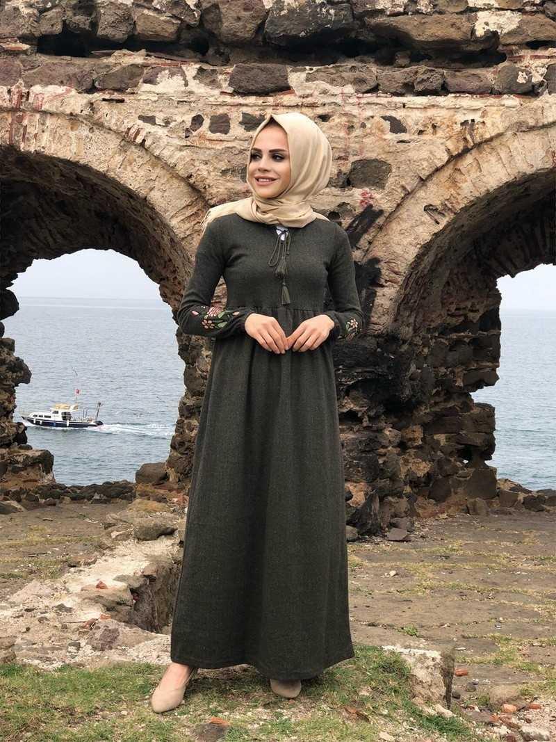ModaOnur Tesettür Kaşmir Elbise Modelleri