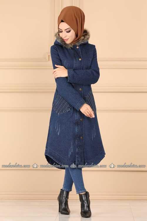 ModaSelvim Sonbahar Kış Tesettür Dış Giyim Modelleri