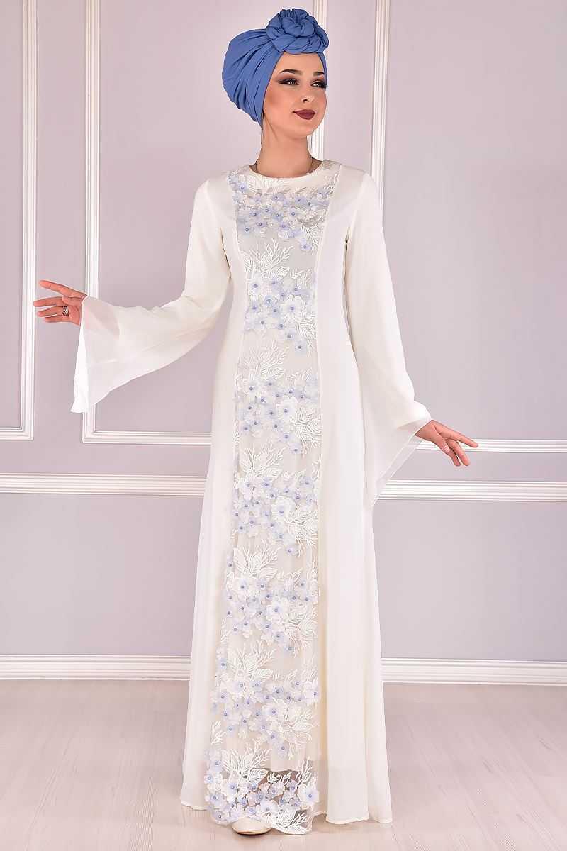 Modamerve Üç Boyutlu Tesettür Abiye Elbise Modelleri