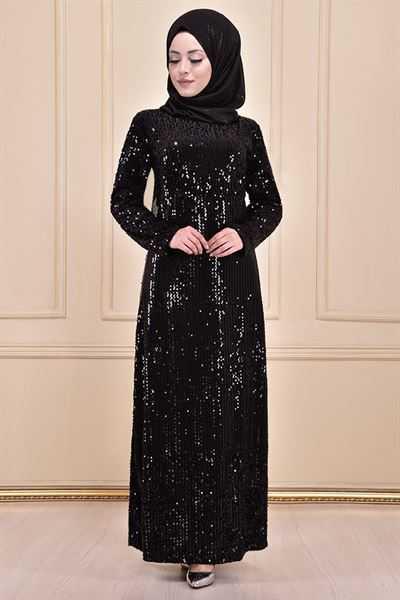 Modamerve Pullu Tesettür Elbise Modelleri