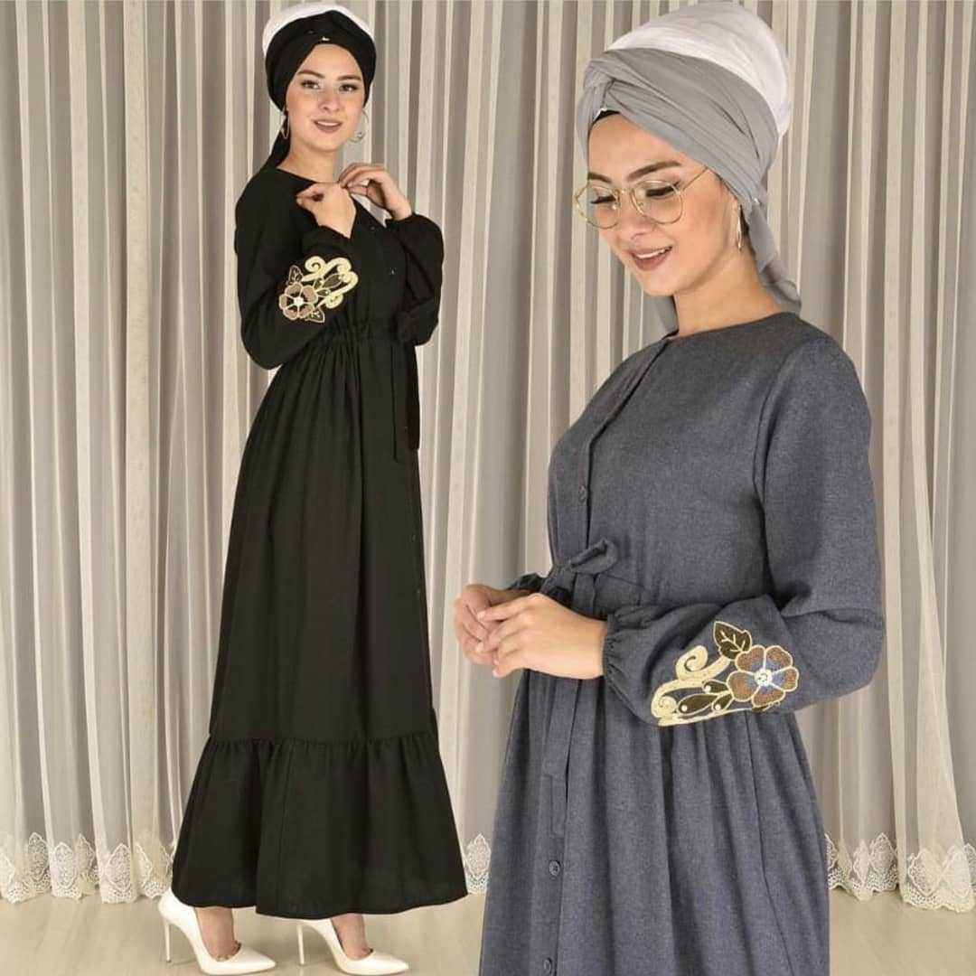 Modamerve Tesettür Kaşmir Elbise Modelleri