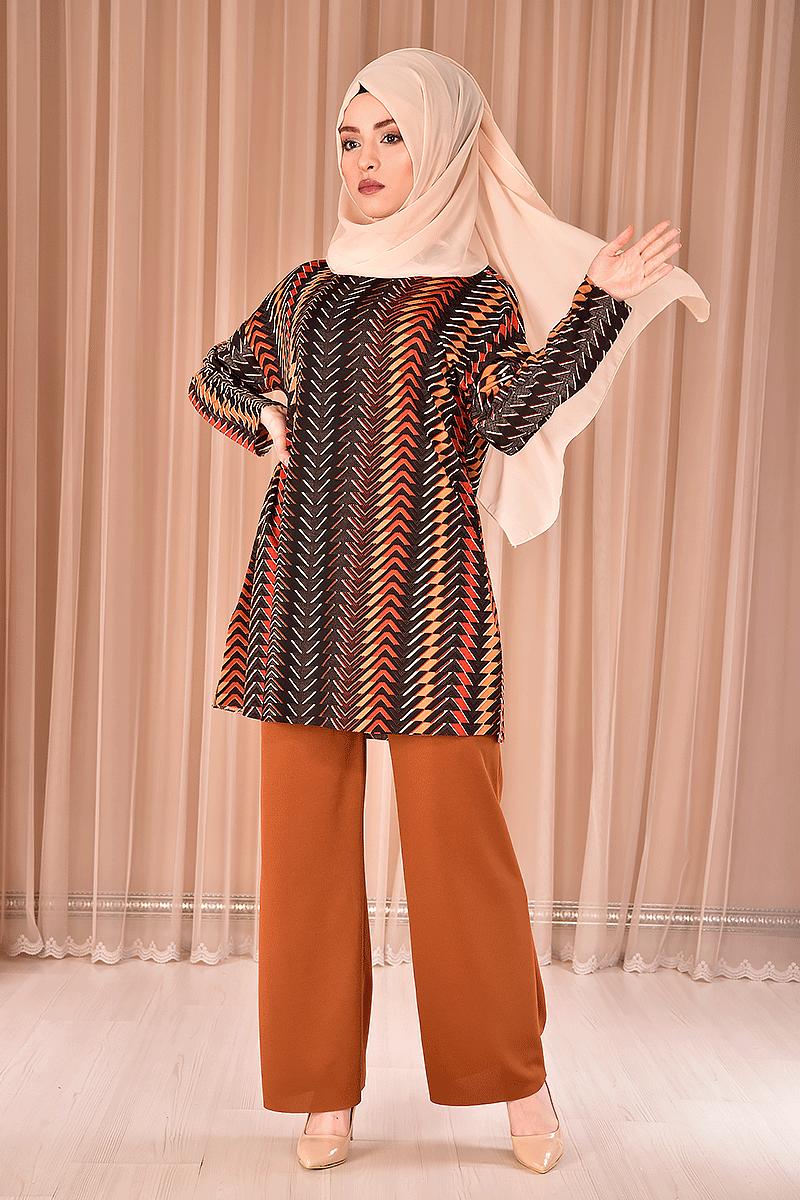 Modamerve Tunik Pantolon Tesettür Takım Modelleri