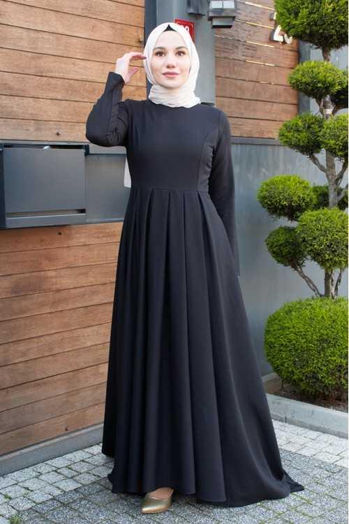 Modayare Tesettür Kuyruklu Abiye Elbise Modelleri