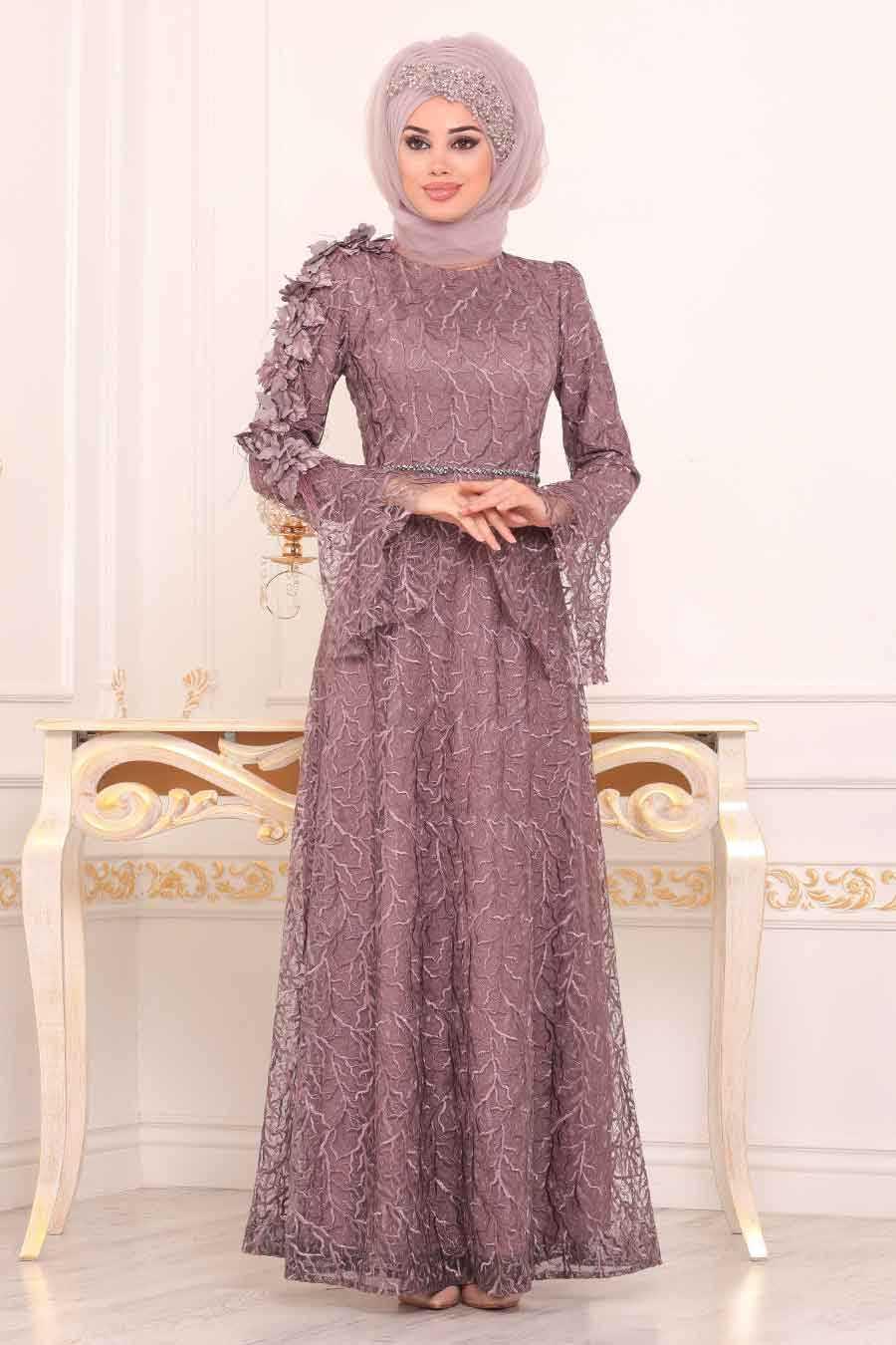 Neva Style Üç Boyutlu Tesettür Abiye Elbise Modelleri