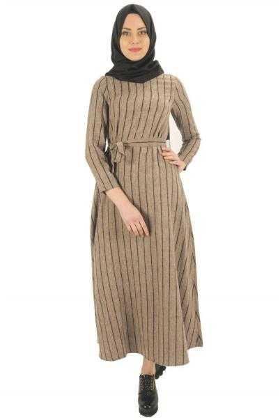 Nisa Nur Tesettür Kaşmir Elbise Modelleri
