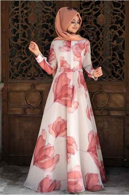 Pınar Şems Özel Gün Tesettür Elbise Modelleri