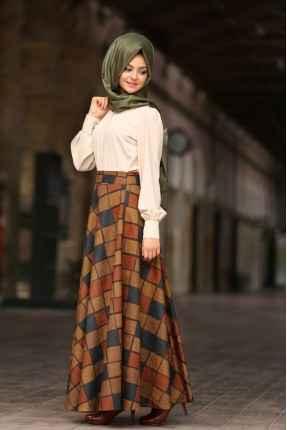 Pınar Şems Tesettür Uzun Etek Modelleri