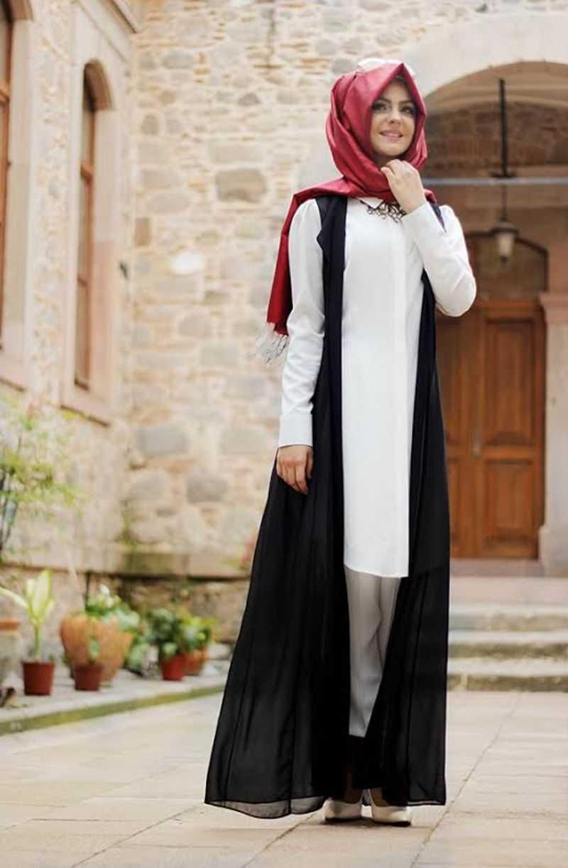 Pınar Şems Tesettür Yelekli Takım Modelleri