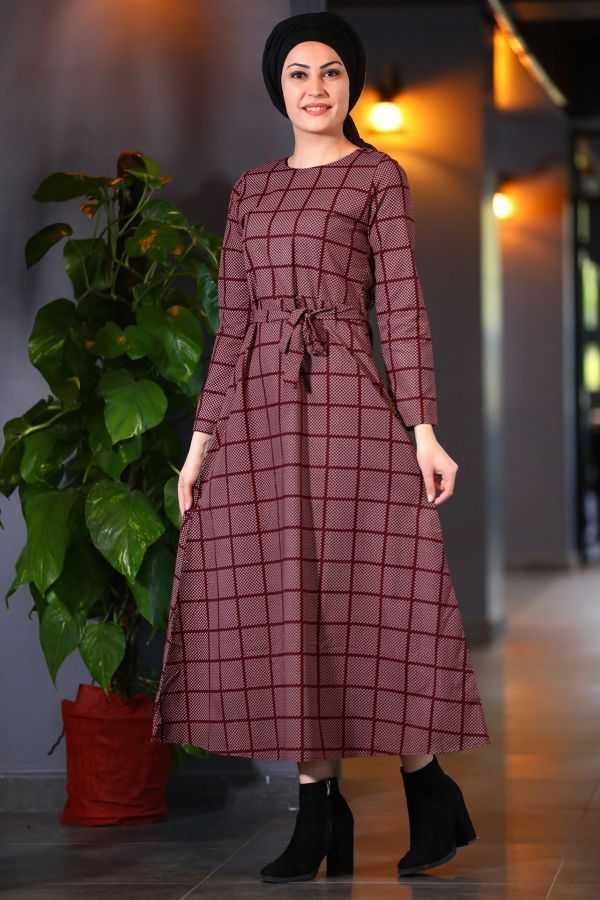 Patırıt Tesettür Midi Elbise Modelleri