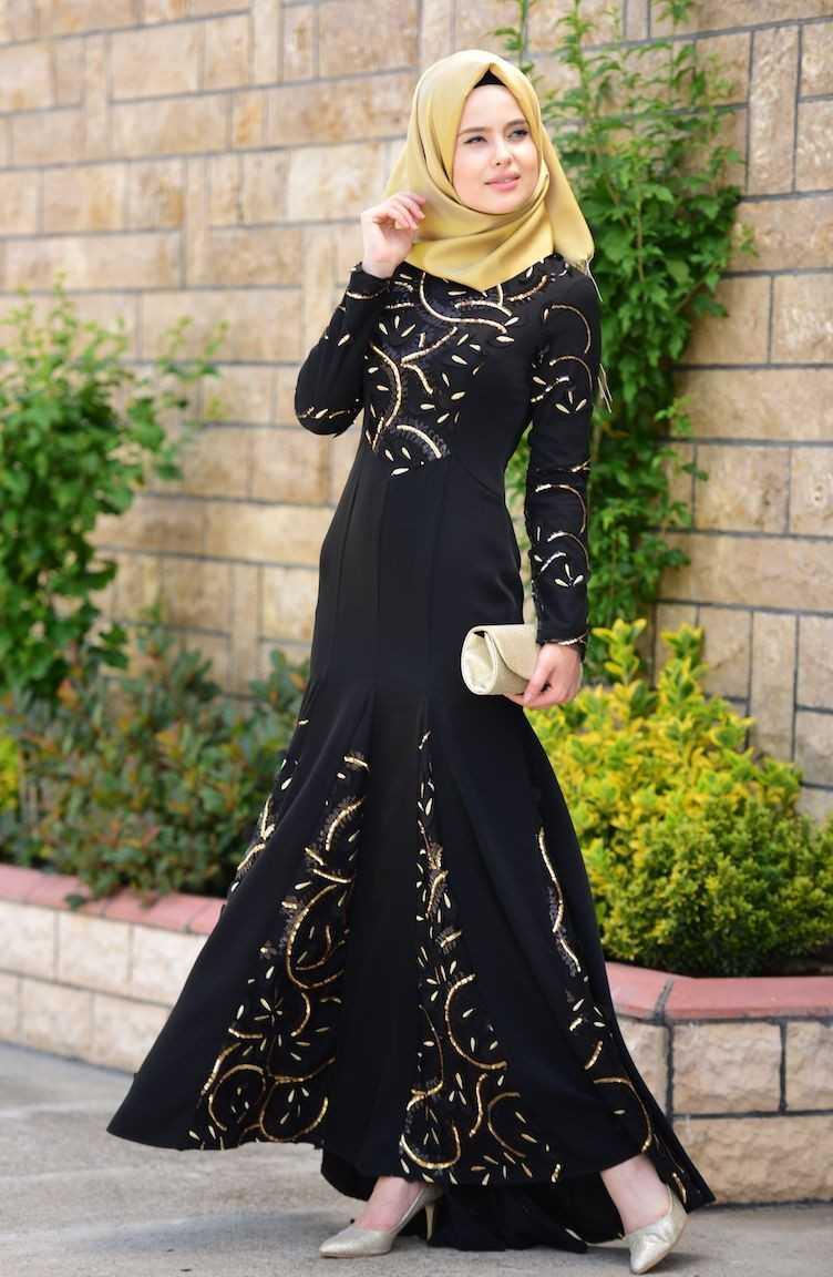 Sefamerve Üç Boyutlu Tesettür Abiye Elbise Modelleri