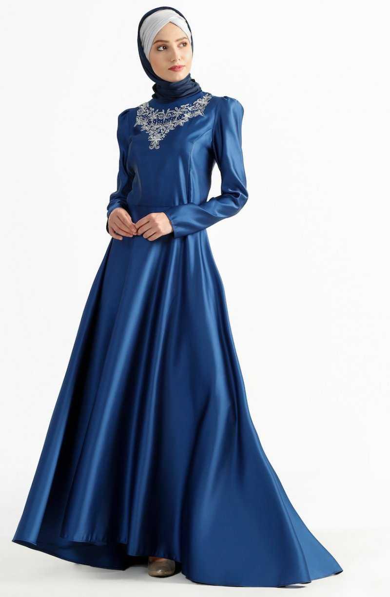 Sefamerve Tesettür Kuyruklu Abiye Elbise Modelleri