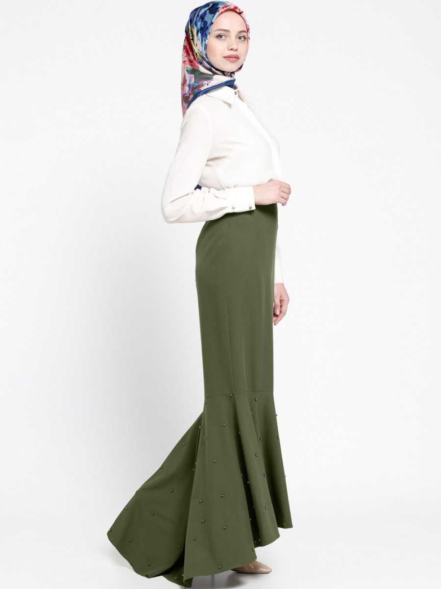 Sevilay Giyim Tesettür Arkası Uzun Etek Modelleri