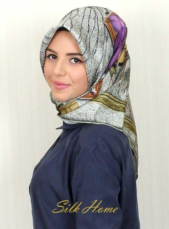 Silk Home Şık İpek Eşarp Modelleri