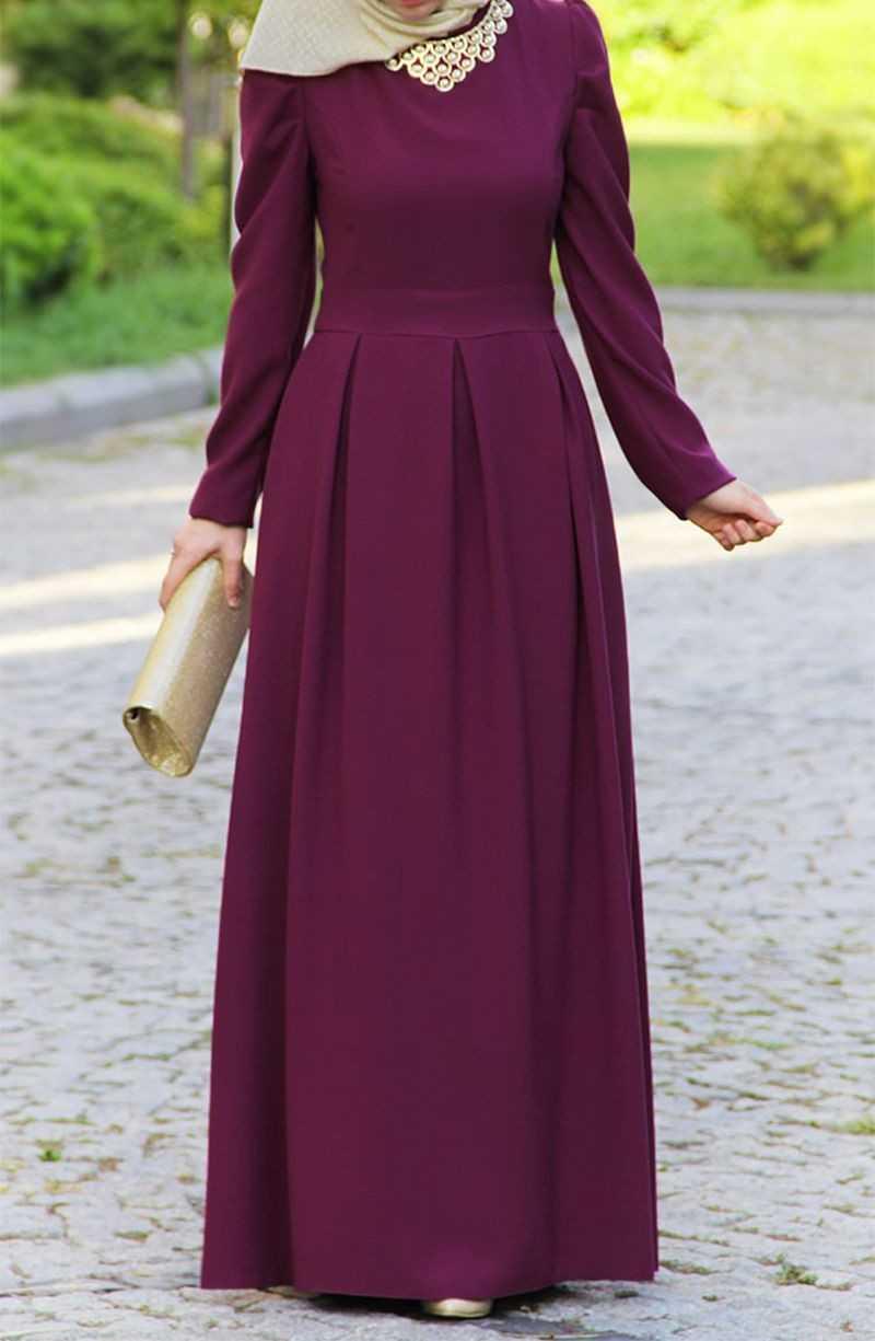 Suhneva Tesettür Prenses Elbise Modelleri