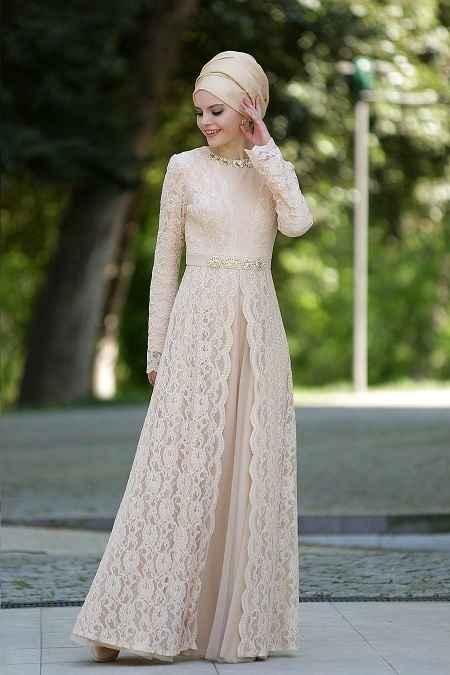 Tesettür İsland Özel Gün Elbise Modelleri