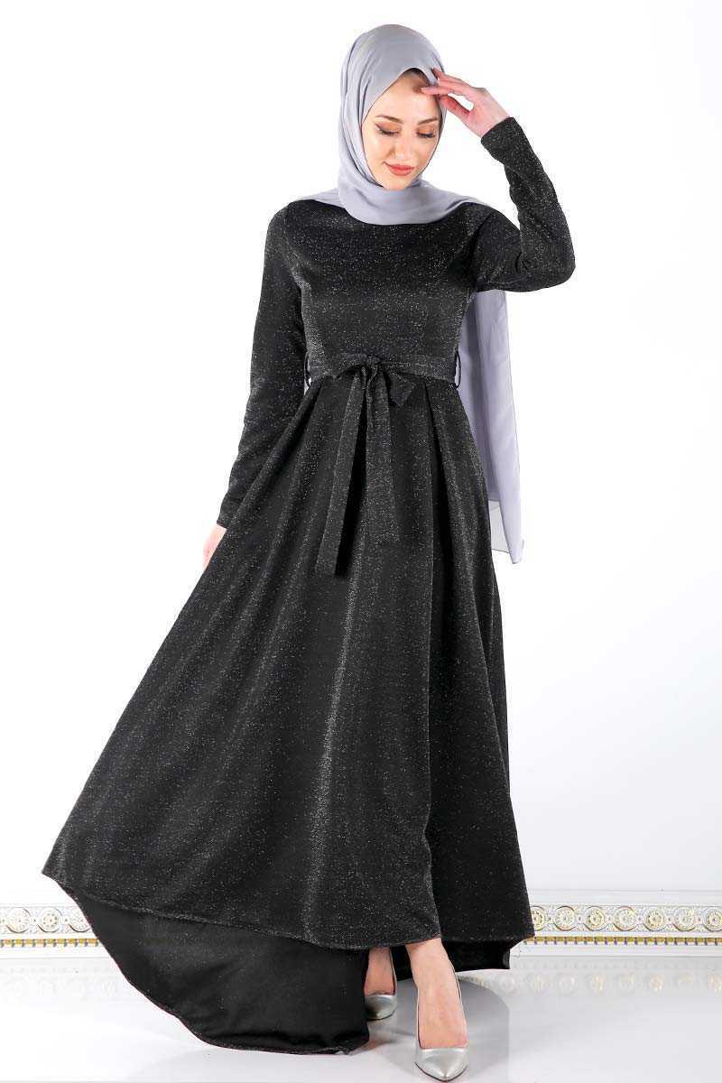 Tesettür Dünyası Kuyruklu Abiye Elbise Modelleri