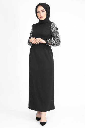 Tesettür Dünyası Pullu Elbise Modelleri