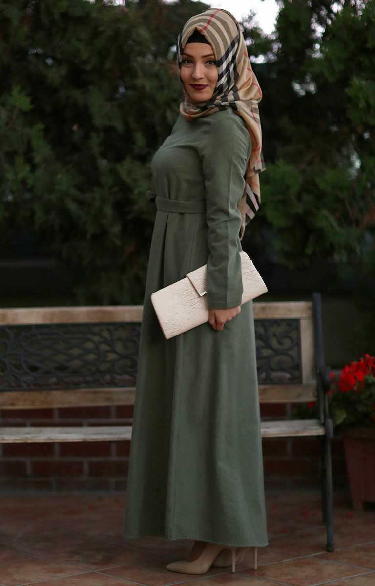 Tesettür Pazarı Kaşmir Elbise Modelleri