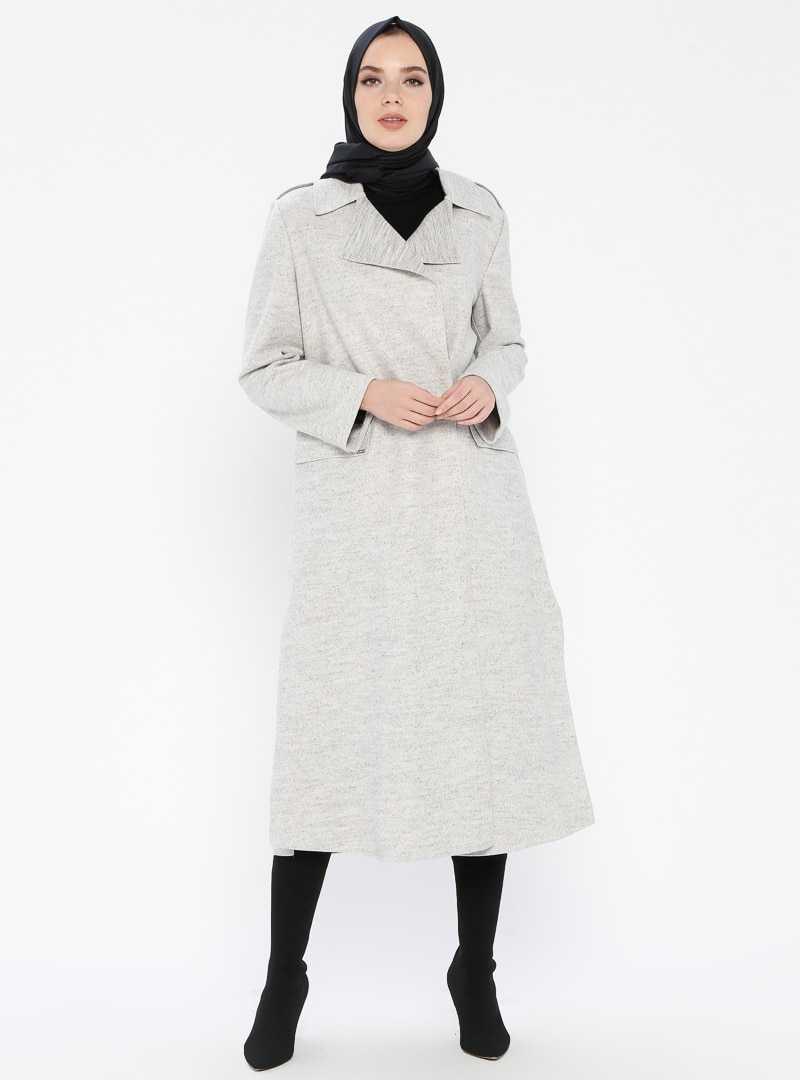 Açık Renk Armine Kışlık Manto Modelleri