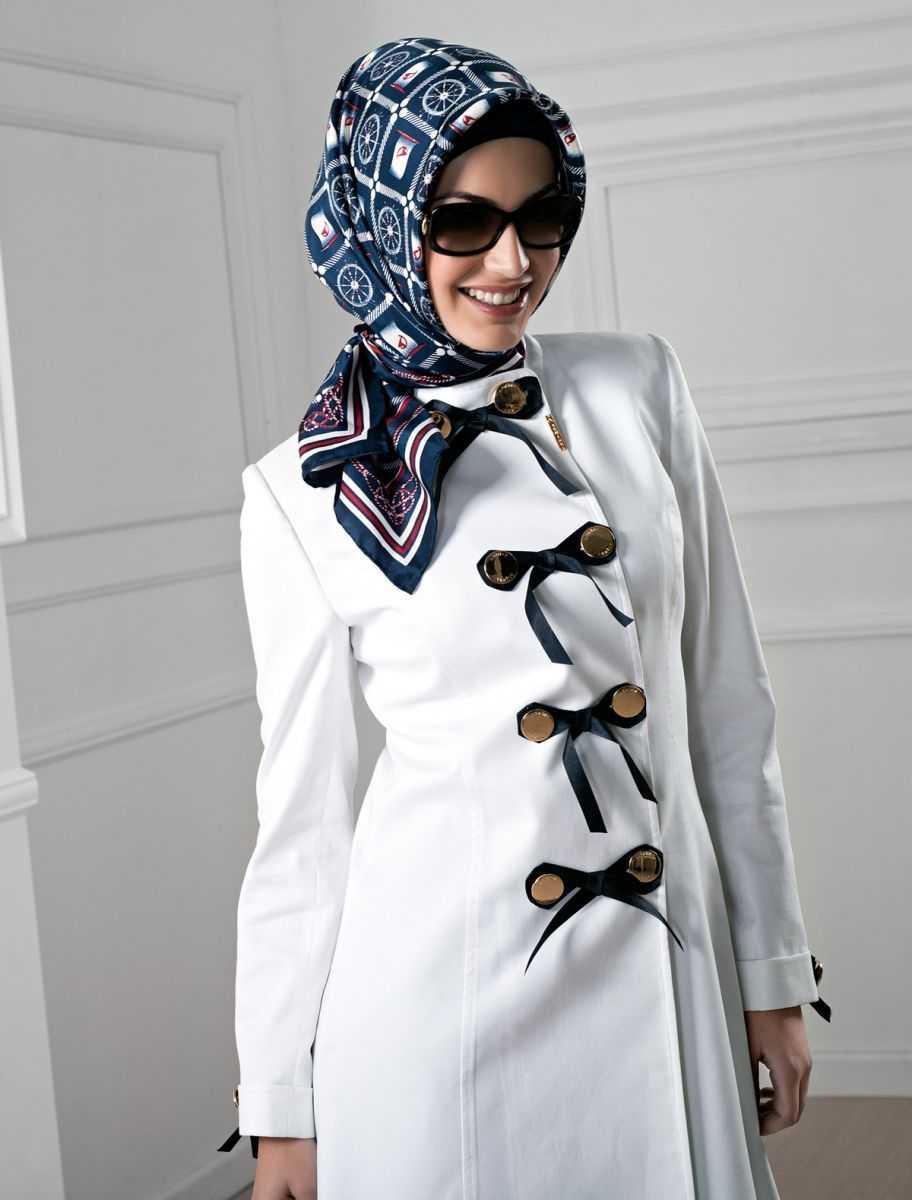 Armine Kışlık Beyaz Manto Modelleri