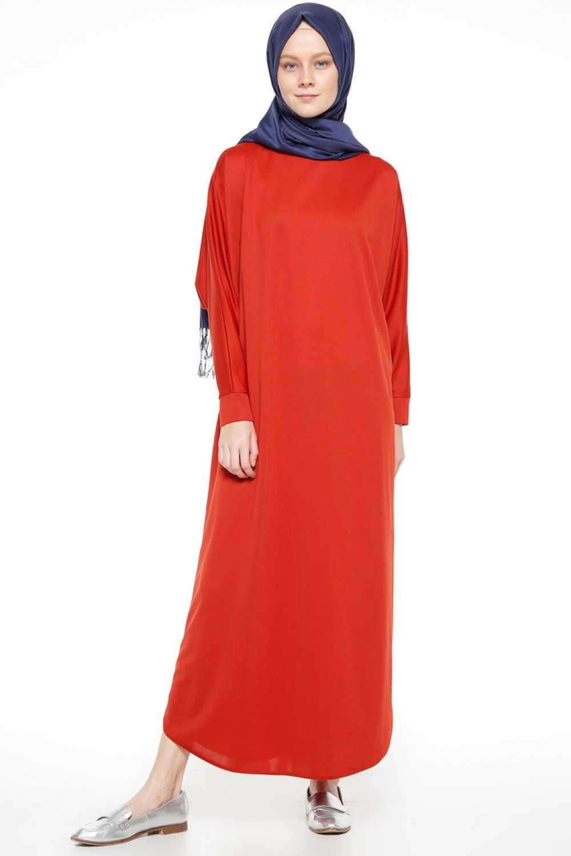 Beha Tesettür Yarasa Kol Şık Elbise Modelleri