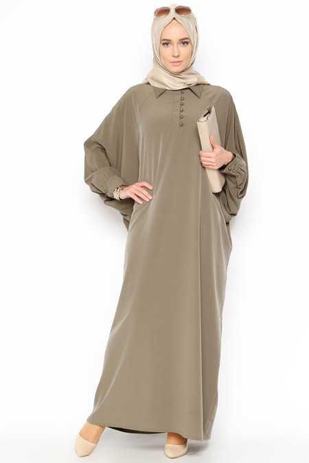 Belle Belemir Tesettür Yarasa Kol Elbise Modelleri