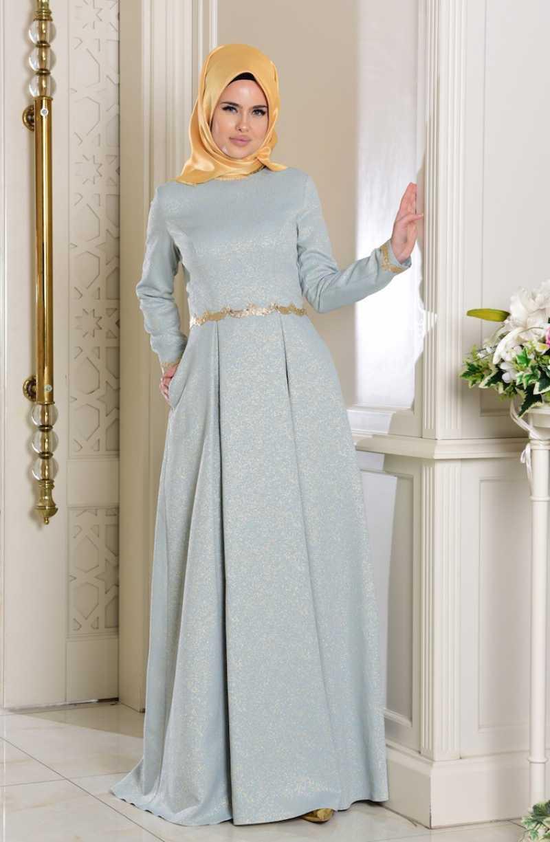 En Güzel Sefamerve Tesettür Jakarlı Elbise Modelleri