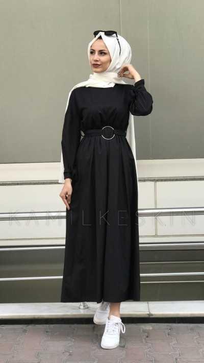 Kamil Keskin Tesettür Tokalı Elbise Modelleri