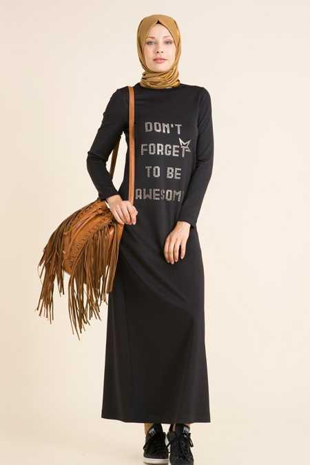 Kayra Tesettür Baskılı Elbise Modelleri
