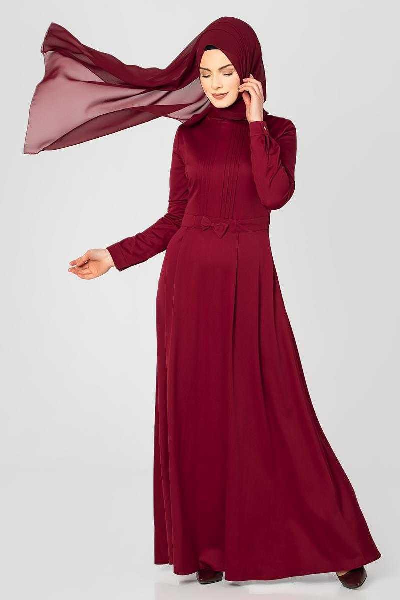 Moda Ebva Drapeli Tesettür Elbise Modelleri