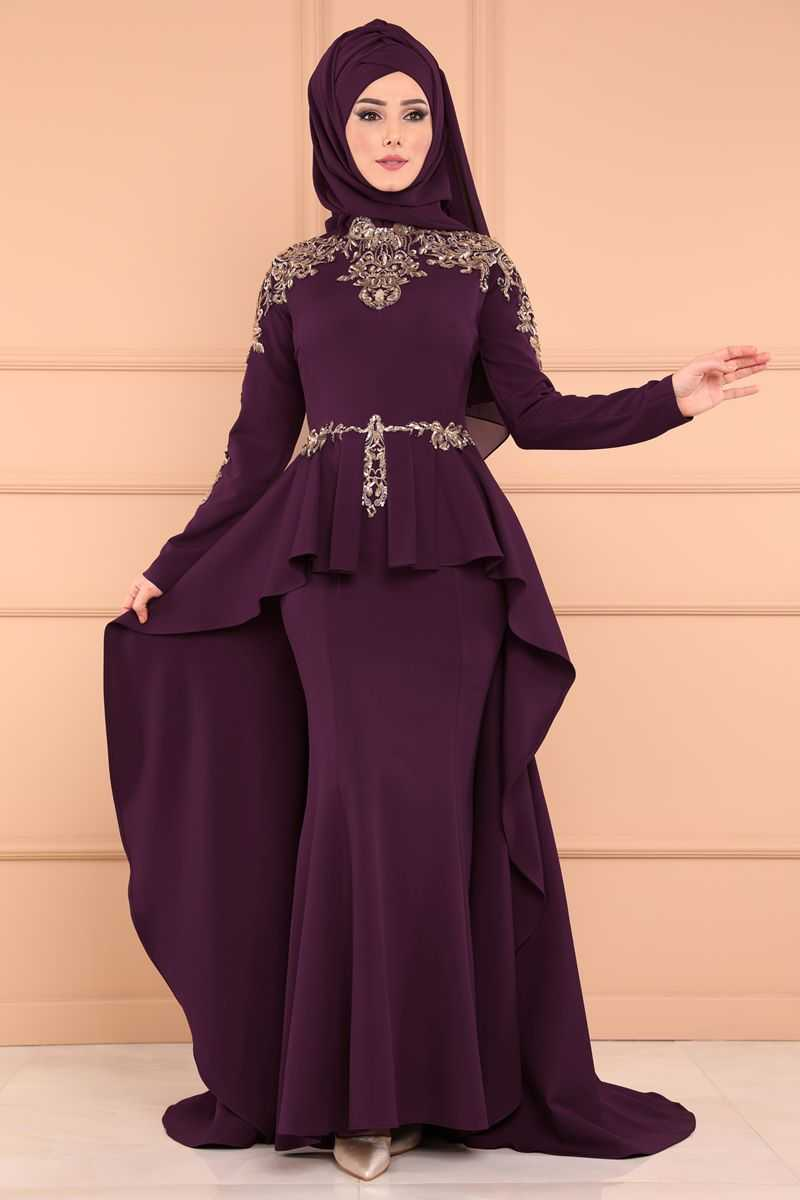 Moda Selvim İşlemeli Abiye Elbise Modelleri