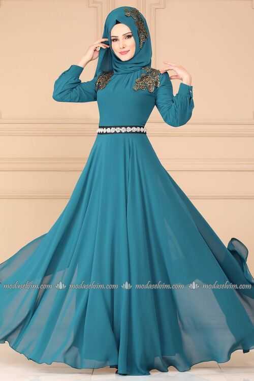 Moda Selvim Şal Kombinli Abiye Modelleri