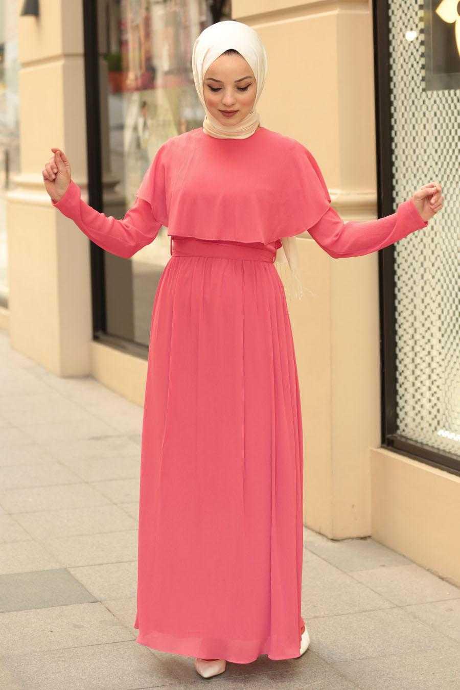 Nayla Collection Tesettür Yarasa Kol Elbise Modelleri