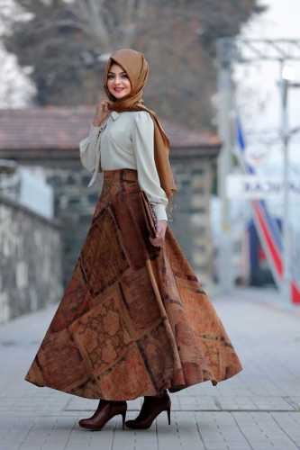 Pınar Şems Tesettür Mevlana Etek Modelleri