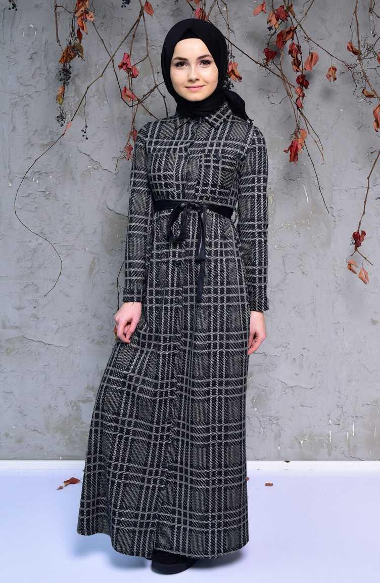 Sefamerve Sonbahar Kış Düğmeli Elbise Modelleri