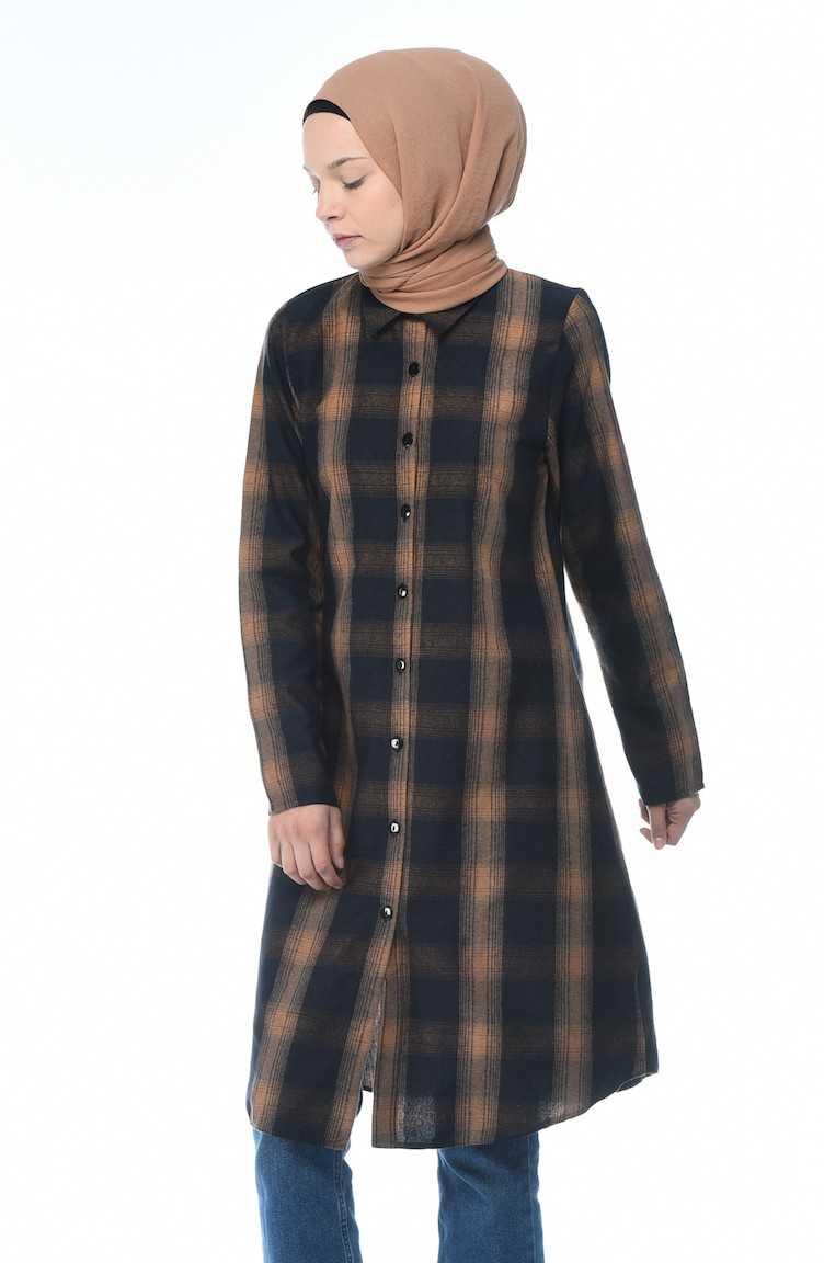 Sefamerve Sonbahar Kış Ekose Tunik Modelleri