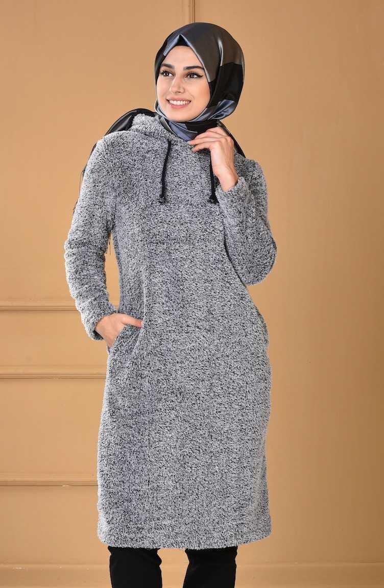 Sefamerve Sonbahar Kış Kapüşonlu Kazak Modelleri