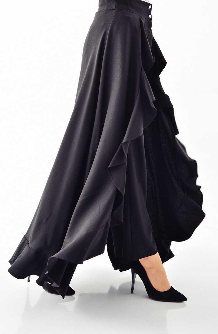Sefamerve Tesettür Volanlı Pantolon Etek Modelleri