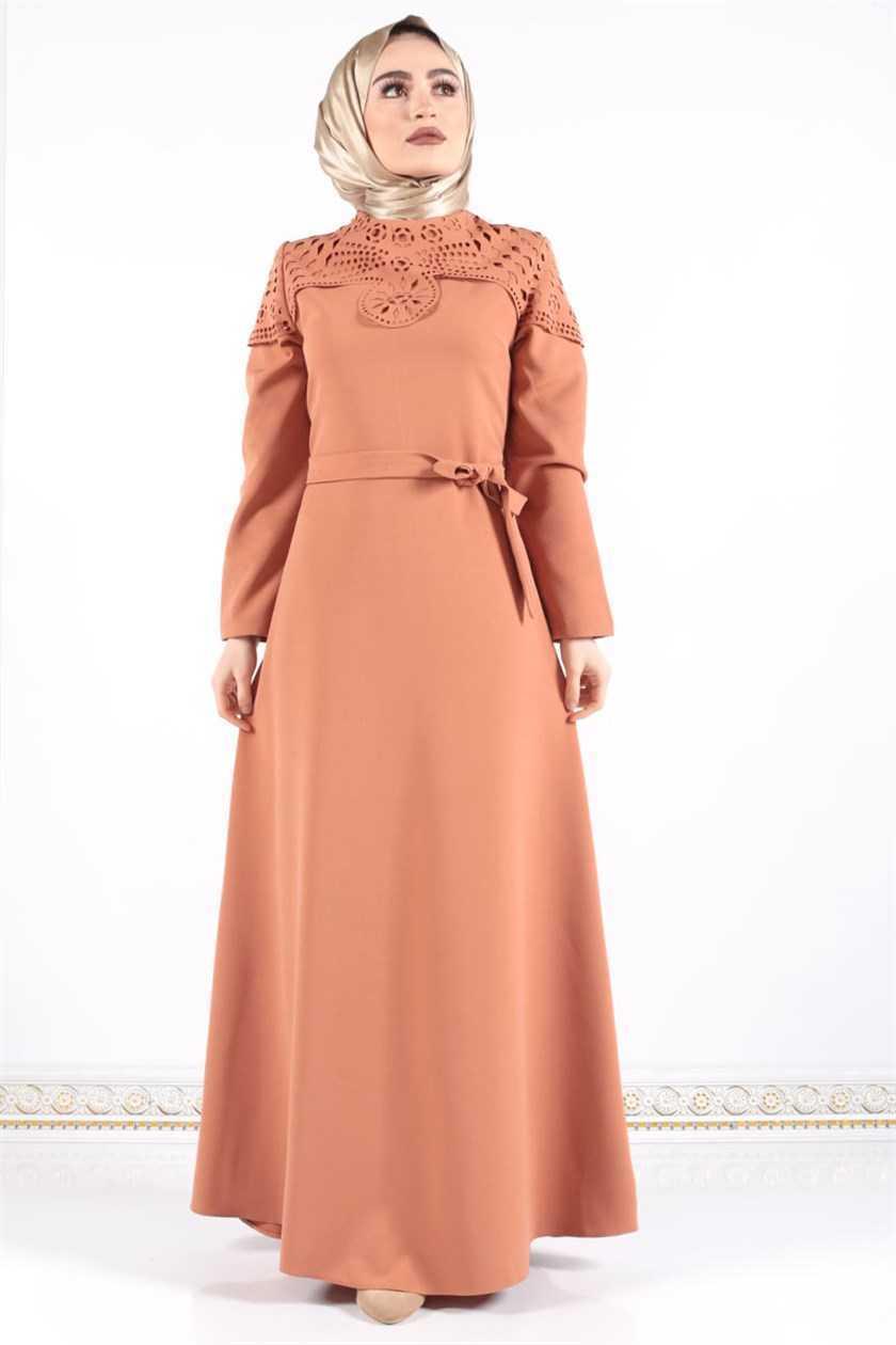 Tesettür Dünyası Lazer Kesim Elbise Modelleri