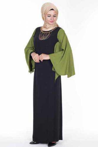 Tesettür Dünyası Yarasa Kol Elbise Modelleri