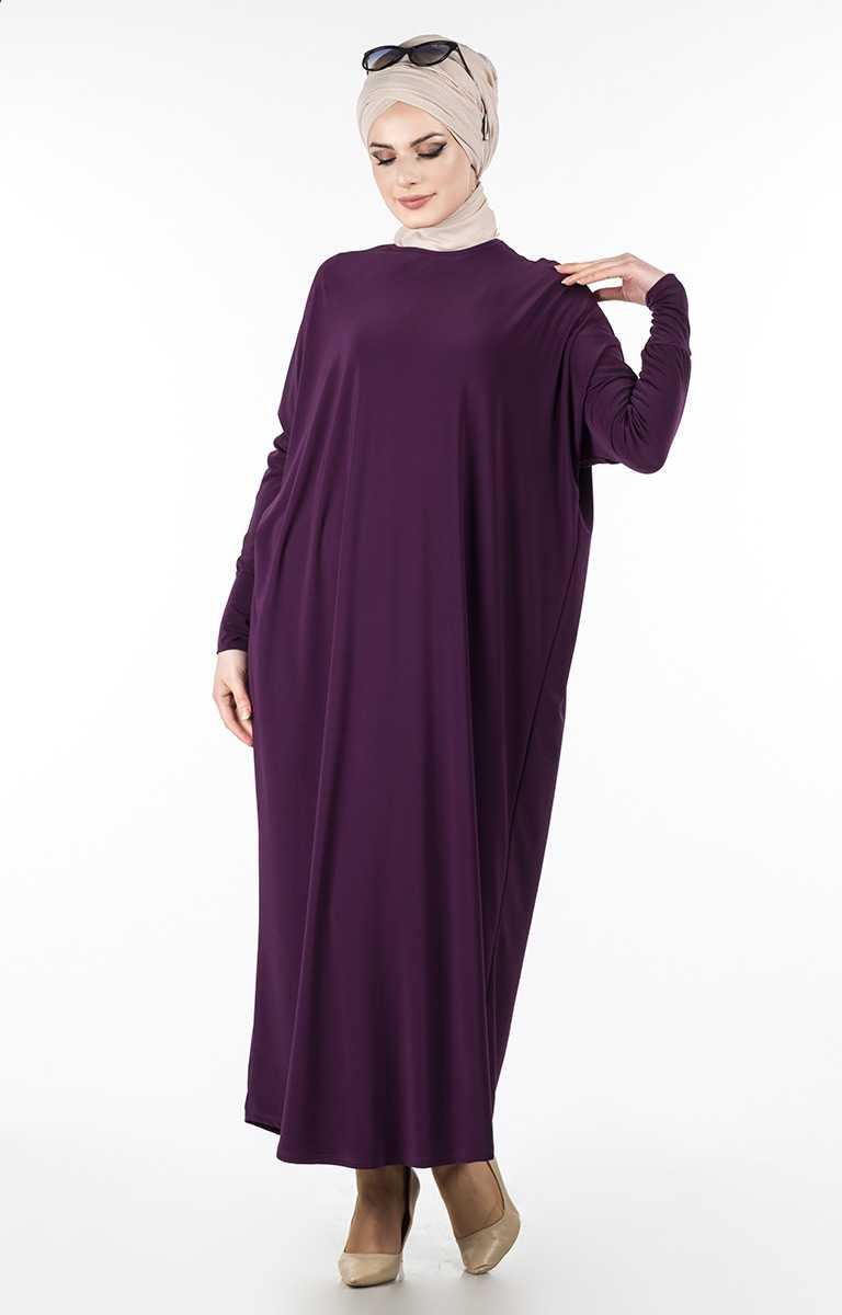 Tesettür Pazarı Yarasa Kol Elbise Modelleri