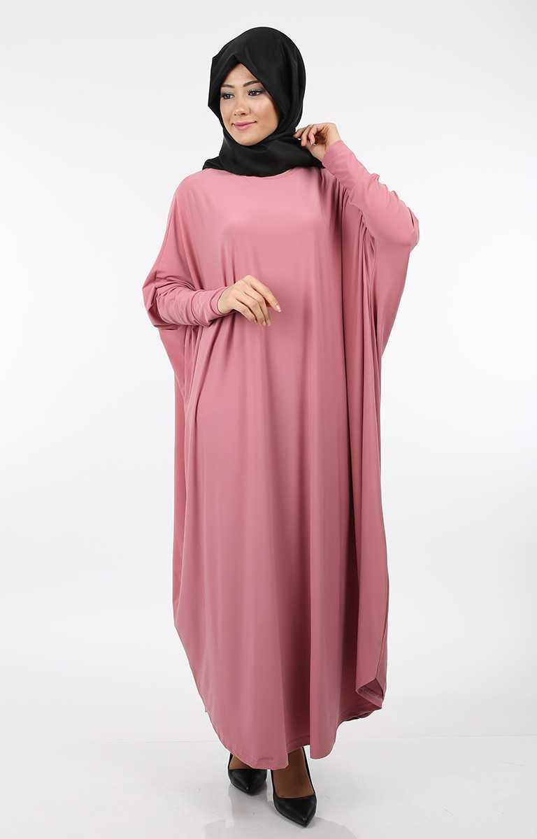 Tesettür Pazarı Yarasa Kol Yavru Ağzı Elbise Modelleri