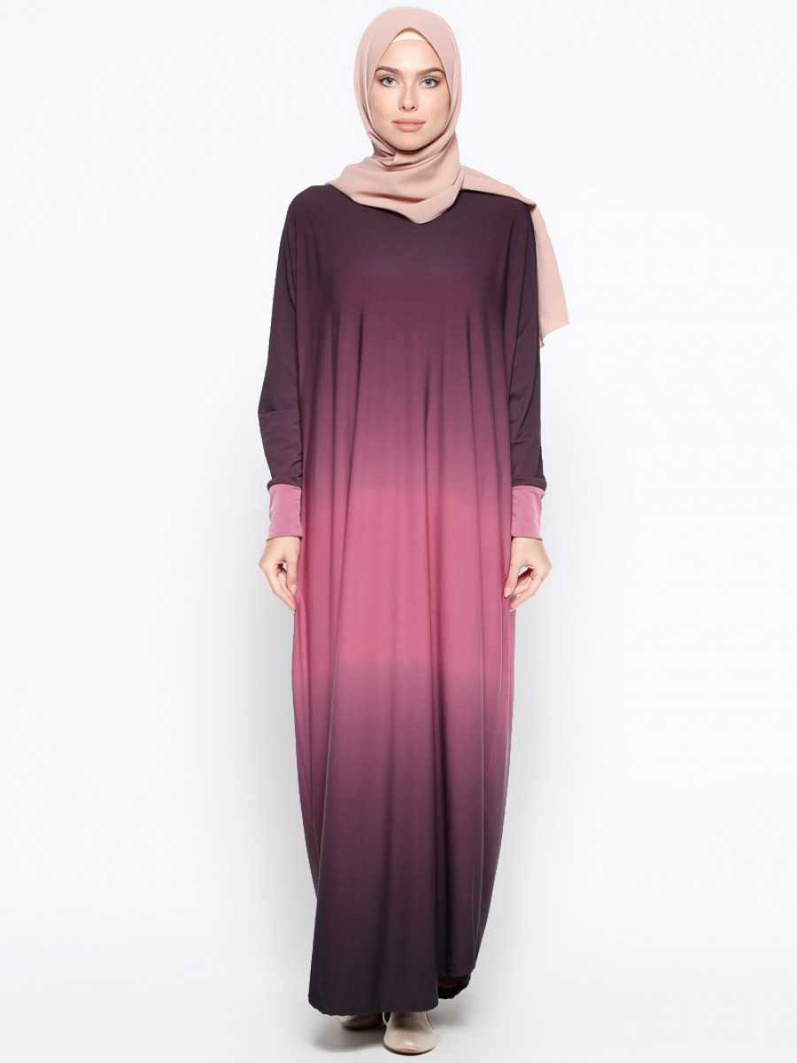 Topless Tesettür Yarasa Kol Elbise Modelleri